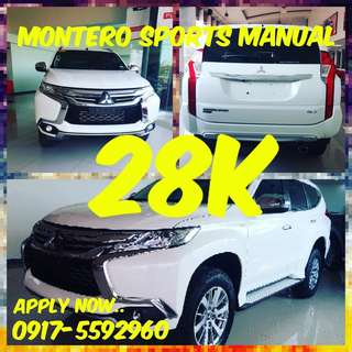 28k dp only..Brand New Montero Sports 2018