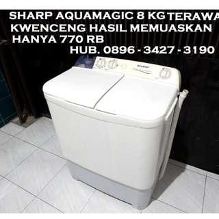 Sharp Aquamagic 2Tabung 8Kg Terawat KwencenG Bagus KATAPANG SOREANG