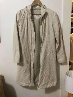 MOTO | Beige water resistant coat