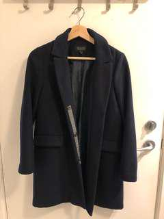 Topshop Navy Blue outerwear