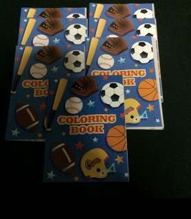 7 mini activity book Soccer baseball party favor