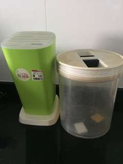 Plastic Container, knife storage