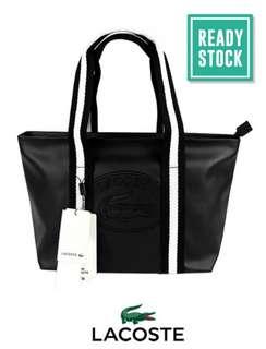 AUTHENTIC LACOSTE MEDIUM SHOPPING BAG (BLACK-MULTI) LAC005