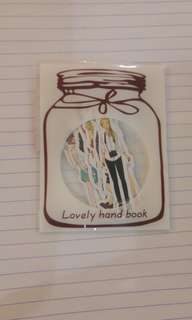 (Woman) Lovely hand book sticker