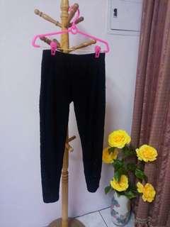 臺灣製滿版蕾絲緊身褲