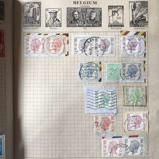 Stamp - Belgium 1950s - misc stamps from Belgium all 14 for $3
