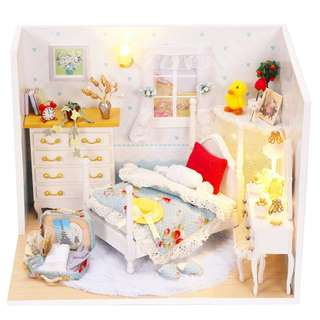 Handmade Doll House Furniture Diy Miniature Dollhouse Wooden Dreaming House Toys