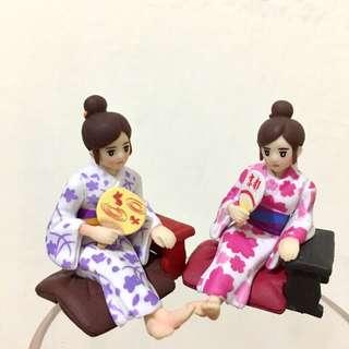 ❣️合售❣️溫泉♨️杯緣子 京都限定 京都團扇 櫻花團扇 金魚團扇 溫泉團扇杯緣子 盒玩