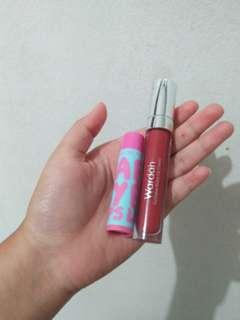 Take it all lip cream wardah & maybelline baby lips