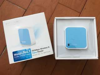 TP-LINK 150Mbps Wireless N Nano Router (實拍 全新)