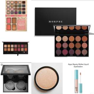🚚 Branded eyeshadow palettes clearance sales