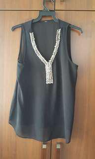 Black Top with Embellishment