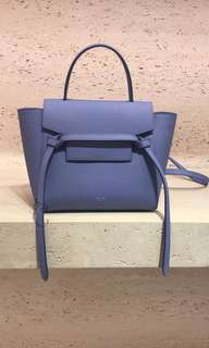 全新Celine nano belt bag 紫藍色