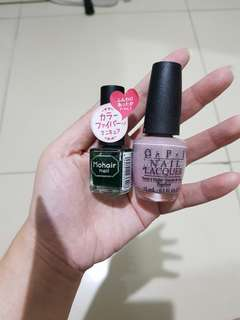 Opi & japan nail polish kutek