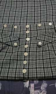 plaid long skirt checkered skirt