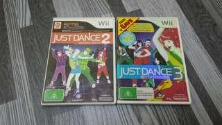 Wii Just Dance 2 & 3