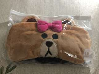 Line bear Eye mask