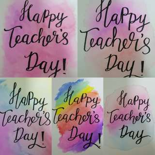 Teachers day Calligraphy Cards (5pcs)