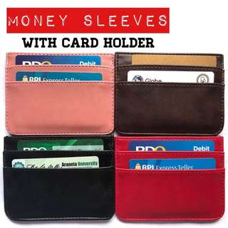 Money sleeves with card holder