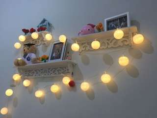Lampu hias kamar cotton ball