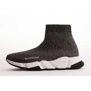 Balenciaga Speed Runner 雪花灰 巴黎世家 針織 襪套 高筒 潮流款 男女