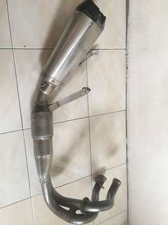 Exhaust Giannelli with link pipe and power bomb