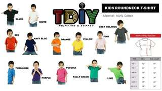 Kids roundneck t shirt