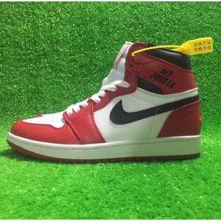 Nike Air Jordan 1 AJ1 Retro High Air 紅白 555088-101 男