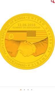 Trump Kim summit coin