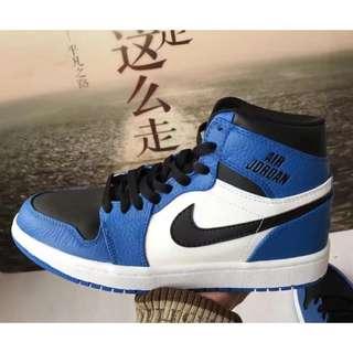 Nike Air Jordan 1 AJ1 黑藍 男