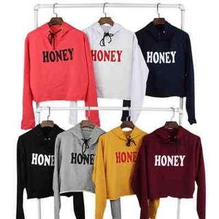 Cring Honey Design Crop Hooded Jacket