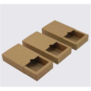 Box with Sleeve Black or Brown Square 14.5cm x 14.5cm x 6cm