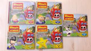 Bundle of 5 Used The Wheels on the Bus VCDs for Toddlers