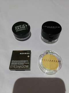 Concealer and eye shadow