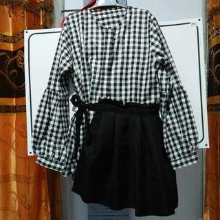 Baju hitam putih untuk acara pesta atau formal-BISA NEGO-