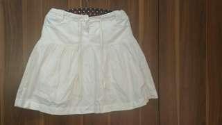 MNG Mango Casual Sports Wear Cotton Skirt White