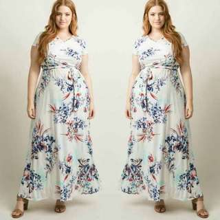 Floral Maxi Dress for Plus size