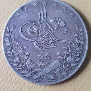1906 Egypt 20 Qirsh coin.