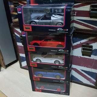 Complete Set of 5 Petron Porsche collection