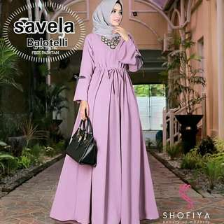 MF - 0418 - Dress Gamis Busana Muslim Wanita Savela Maxy