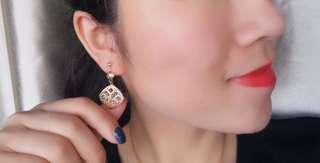 意大利古典風情18k彩金耳環耳釘宮廷氣質款式🎀百搭襯衫珠寶首飾生日禮物推薦