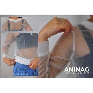 Mesh long sleeves