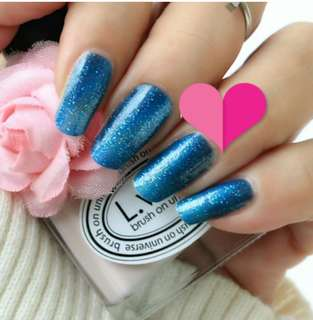 Glittery Blue/Purple Gradient Nail Foil Stickers Wrap
