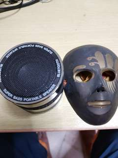 Bluetooth speaker and copper mask