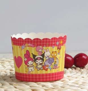 PO Cardboard Muffin High Temperature Cartoon Holder