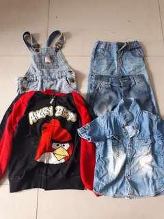Baju anak size 2thn k