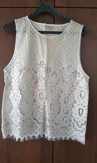 Zara light Gold Lace Top