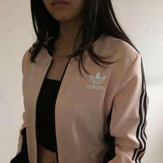 Baby Pink Adidas Track Top Jacket