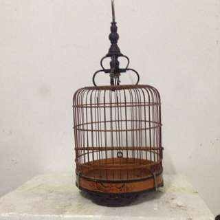 Very old small bird cage