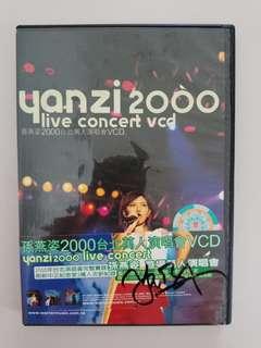 Autographed Stefanie Sun Yanzi 2000 Live Concert VCD (100% Genuine)